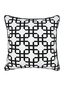 Geometric Black Decorative Filled Pillow