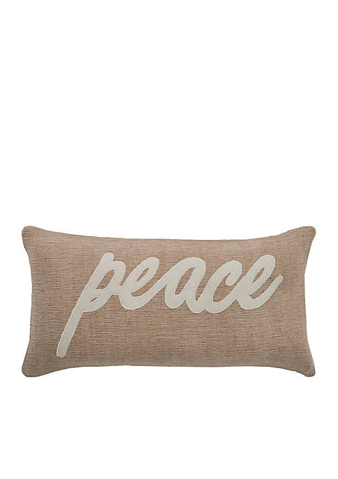Rizzy Home Peace Word Pillow