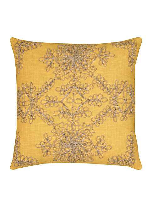 Rizzy Home Medallion Cotton Pillow