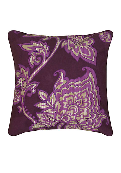 Rizzy Home Floral Purple Decorative Filled Pillow