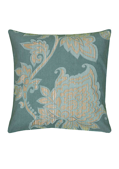 Rizzy Home Floral Pillow
