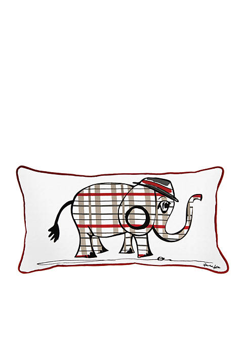 Rizzy Home Elephant White Decorative Filled Pillow