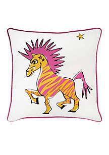 Zebra White Decorative Filled Pillow