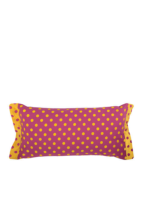 Rizzy Home Polka Dot Pink Decorative Filled Pillow