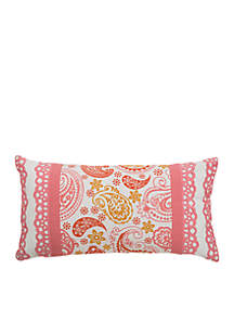 Paisley And Floral Cream Decorative Filled Pillow