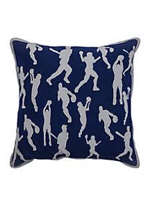 Sports D. Blue Decorative Filled Pillow