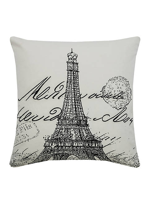 Rizzy Home Eiffel Tower Print Pillow