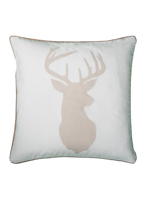 Rizzy Home Deer Head Pillow