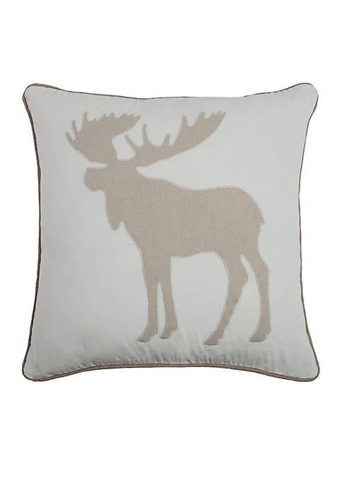 Moose Profile Pillow