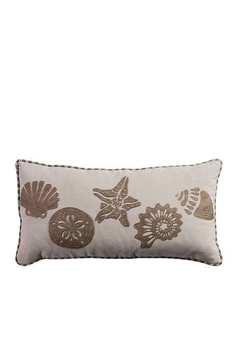 Rizzy Home Sand Dollar and Starfish PIllow