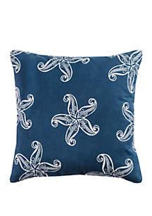 Starfish Navy Decorative Filled Pillow