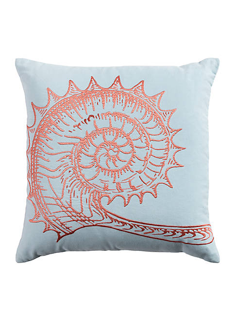 Shell Grey Decorative Filled Pillow
