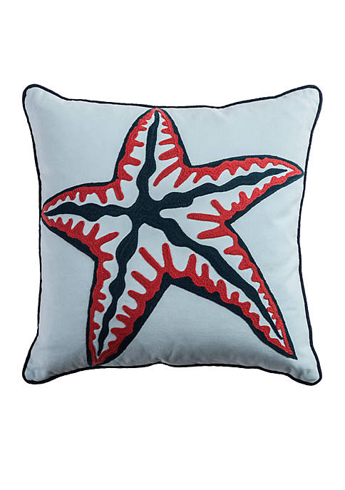 Rizzy Home Starfish Pillow