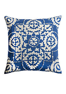 Floral Cream Decorative Filled Pillow