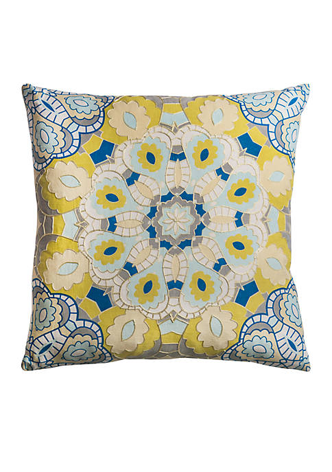 Rizzy Home Medallion Pillow