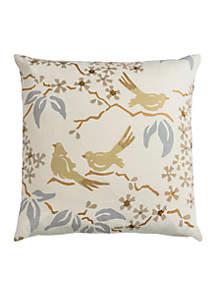 Floral Birds Pillow