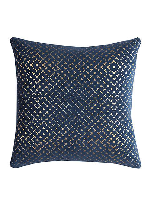 Geometric Velvet Pillow