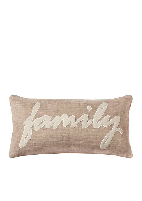 Rizzy Home Family Pillow