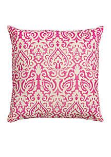 Damask Burlap Pillow
