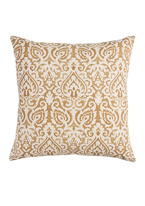 Rizzy Home Gold Damask Pillow