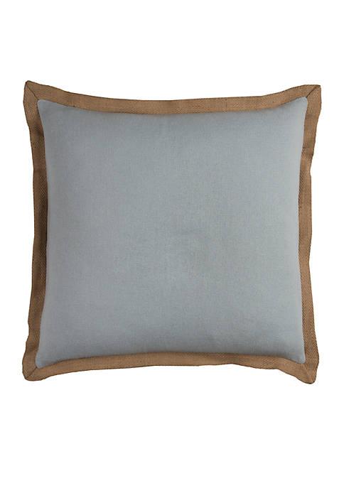 Aqua Solid Cotton Decorative Pillow