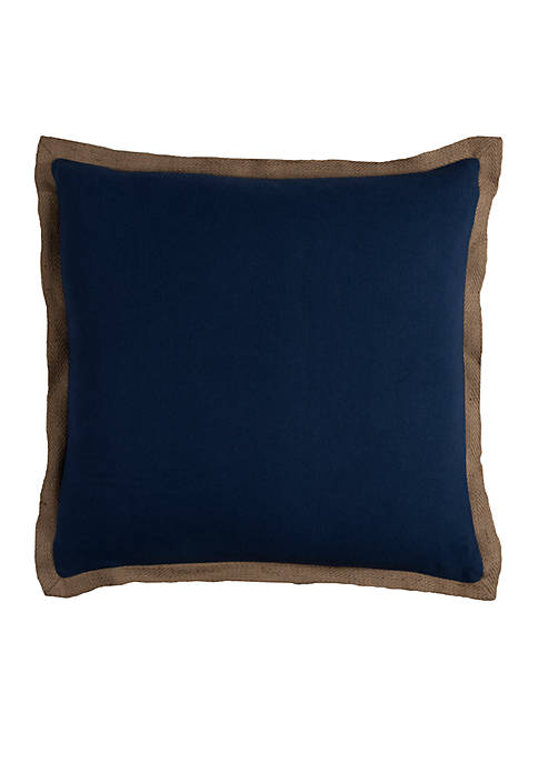 Navy Solid Cotton Decorative Pillow