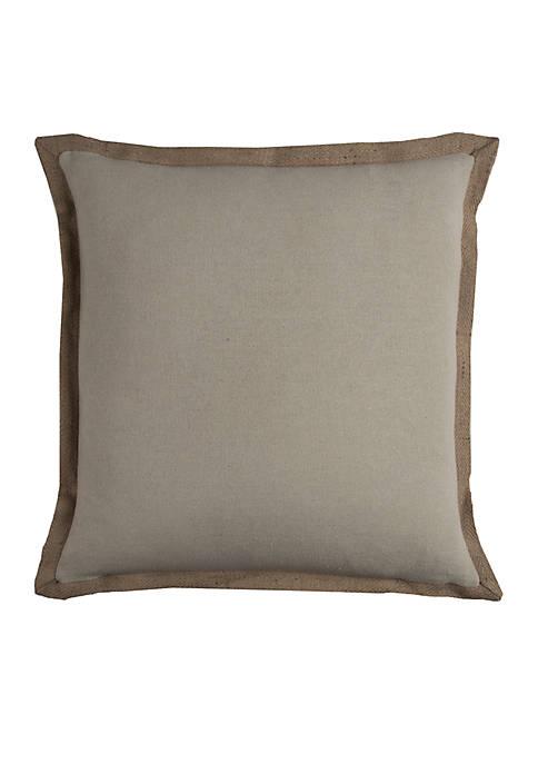 Rizzy Home Solid Khaki Cotton Decorative Pillow