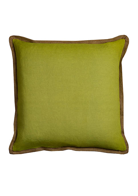Rizzy Home Solid Green Cotton Decorative Pillow