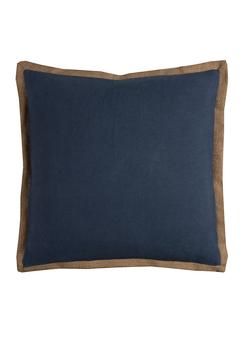 Pewter Grey Solid Cotton Decorative Pillow