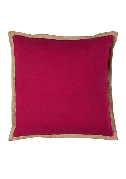 Rizzy Home Solid Cotton Jute Pillow