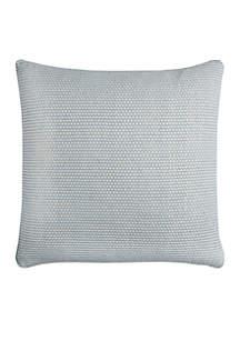 Blue Textured Technique Pillow