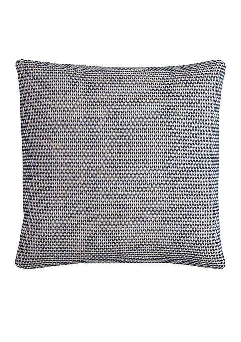 Rizzy Home Indigo Blue Textured Decorative Pillow