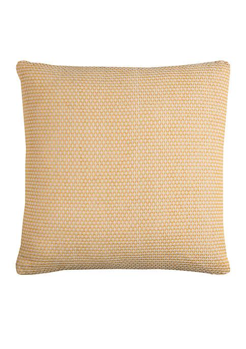 Yellow Textured Decorative Pillow