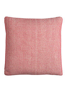 Rizzy Home Red Textured Decorative Pillow