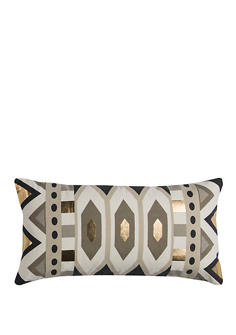 Rizzy Home Geometric Grey Decorative Filled Pillow
