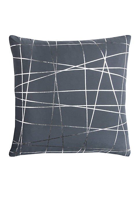 Rizzy Home Abstract Charcoal Decorative Filled Pillow