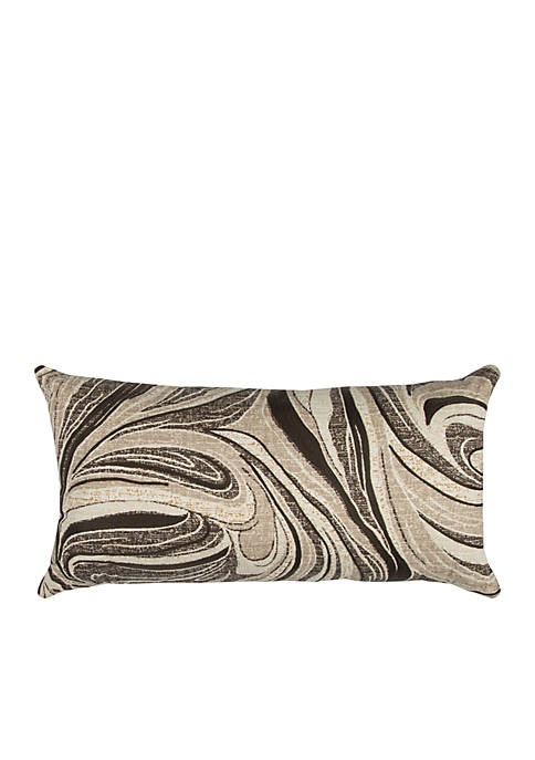 Rizzy Home Ivory Abstract Swirl Cotton Pillow