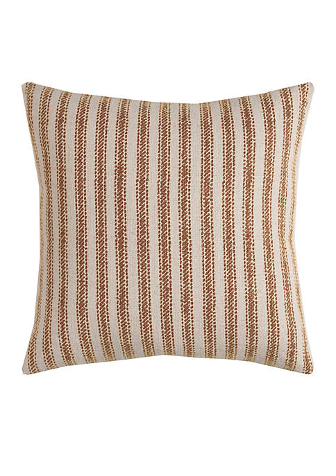 Rizzy Home Natural Ticking Stripe Decorative Pillow