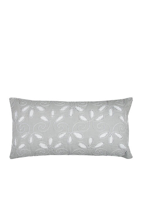 Rizzy Home Aqua Blue Floral Decorative Pillow