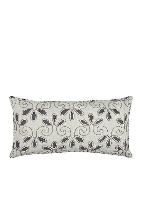 Rizzy Home Ivory Floral Decorative Pillow