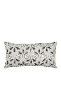 Ivory Floral Decorative Pillow