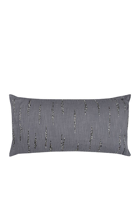 Rizzy Home Gray Textured Bead Decorative Pillow