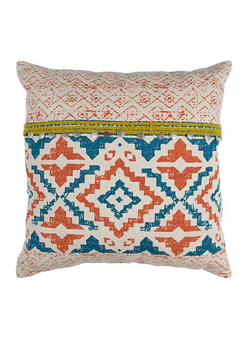 Rizzy Home Geometric Cotton Decorative Pillow