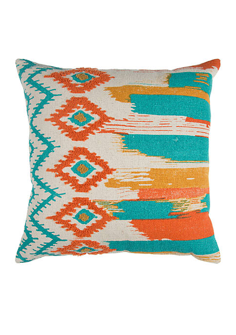 Rizzy Home Geometric Cotton Decorative Pillow
