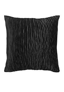 Solid Black Poly Decorative Pillow