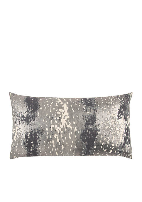 Rizzy Home Abstract Grey Decorative Filled Pillow