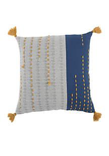 Stripe Blue Decorative Filled Pillow