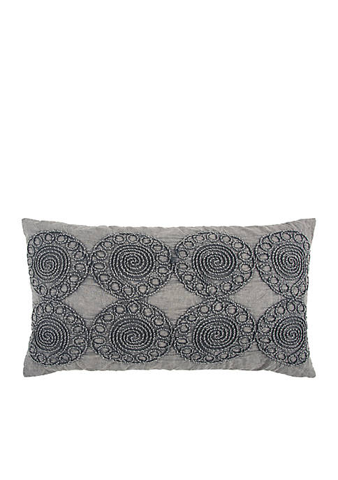 Medallion Grey Decorative Filled Pillow