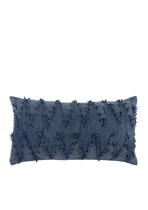 Rizzy Home Deconstructed Chevron Blue Decorative Filled Pillow