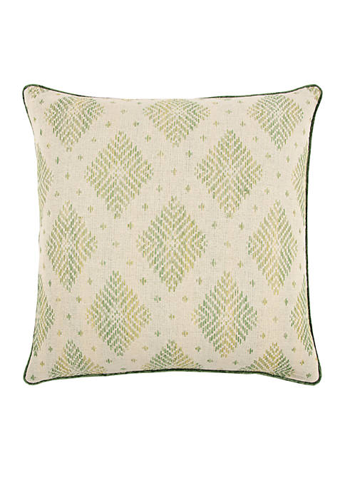Woven Diamond Lime Decorative Filled Pillow